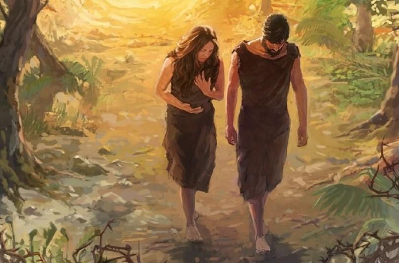 Адам і Єва в пустелі - біблійна легенда