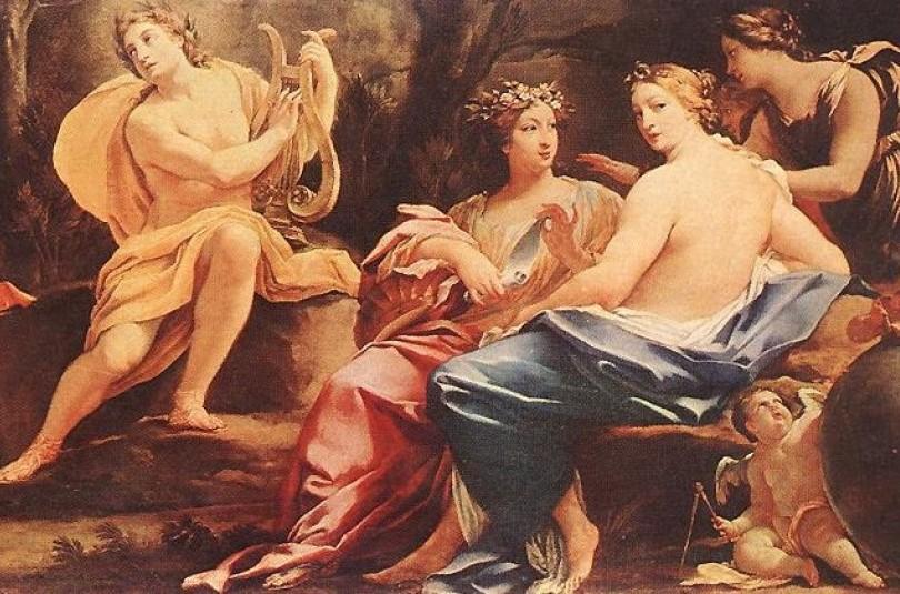 Аполлон і музи - грецький міф