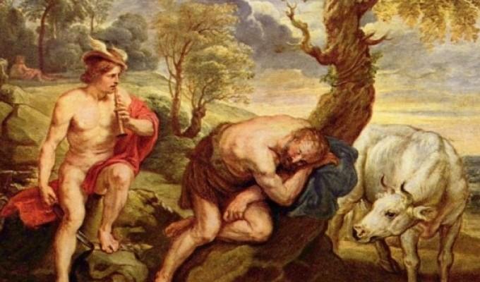 Гермес викрадає корів Аполлона - грецький міф