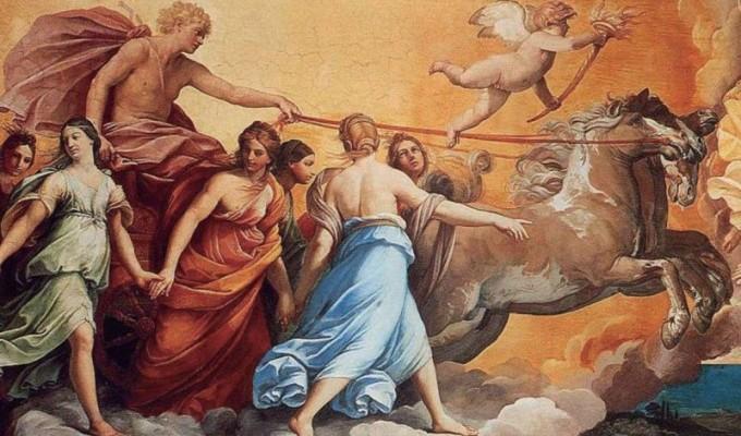 Нiч, Мiсяць, Зоря i Сонце - грецький міф