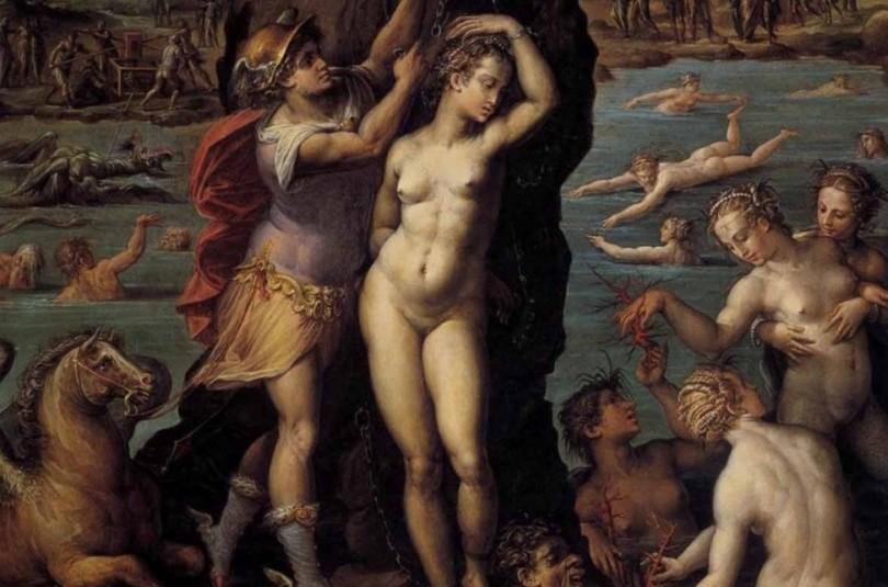 Персей рятує Андромеду - грецький міф