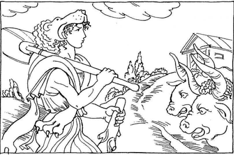 Стайні царя Авгія - шостий подвиг Геракла - грецький міф